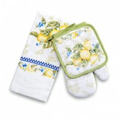 "Набор ""Лимон"" (руковичка+прихватка+полотенце)"