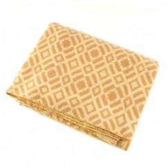 Одеяло шерстяное Жаккард арт.6 85%шерсть, 15%ПЕ (бежевый)