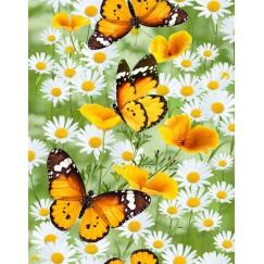 Набор Полотенец ваф. Бабочки