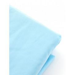 Простынь на резинке микрофибра голубая (L)
